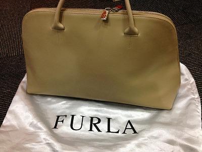 フルラ FURLA ハンドバッグ レザー 未使用品 宅配買取